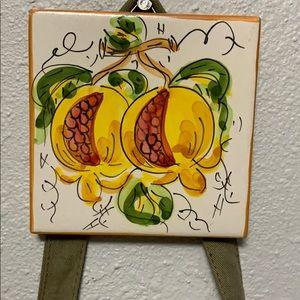Pomegranate Tile Decoration